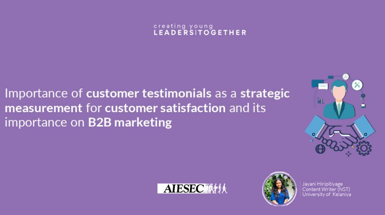 Importance of customer Testimonials as a strategic measurement