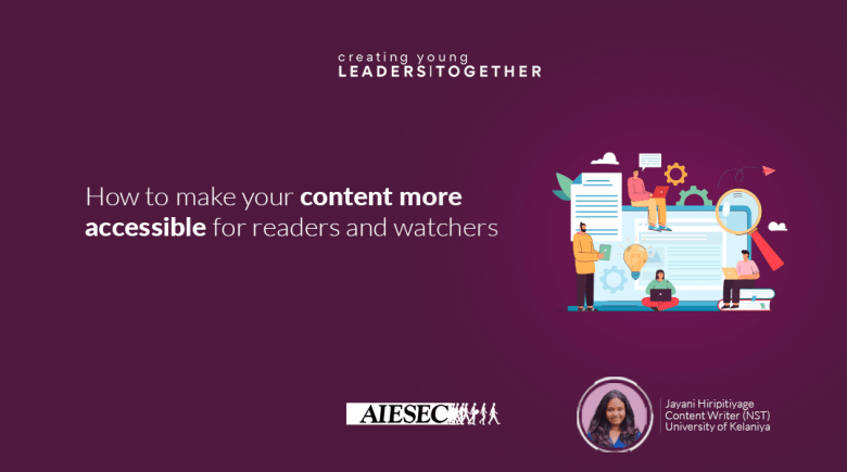 How to make your content more accessible for readers and watchers